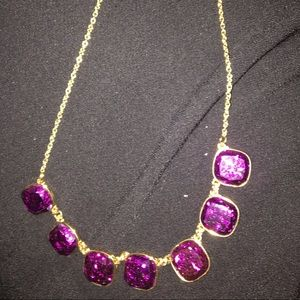 Liz Claiborne Magenta gold sparkle necklace.